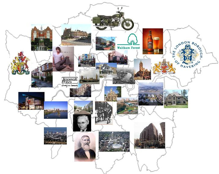 London Boroughs According To Google Image Search