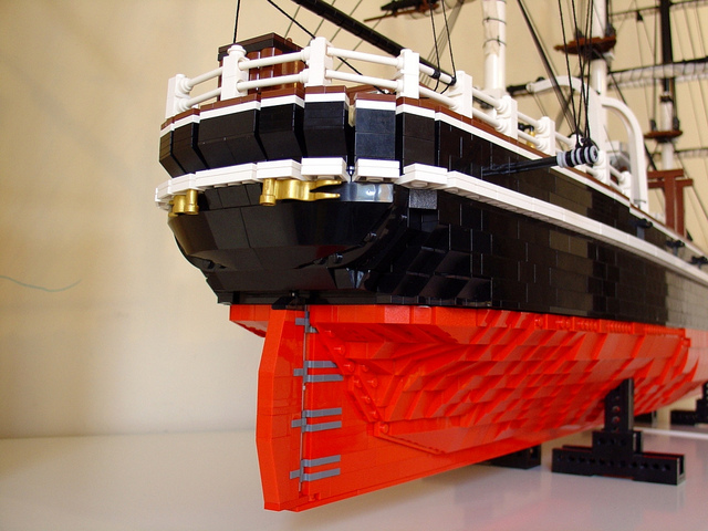 Cutty Sark Made From LEGO