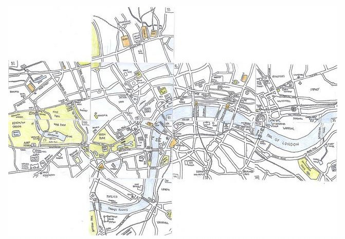 Hand-Drawn Maps Of London: Patchwork London