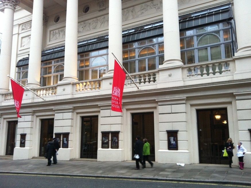 The Royal Opera House. Closed. No Ladies Dancing here.