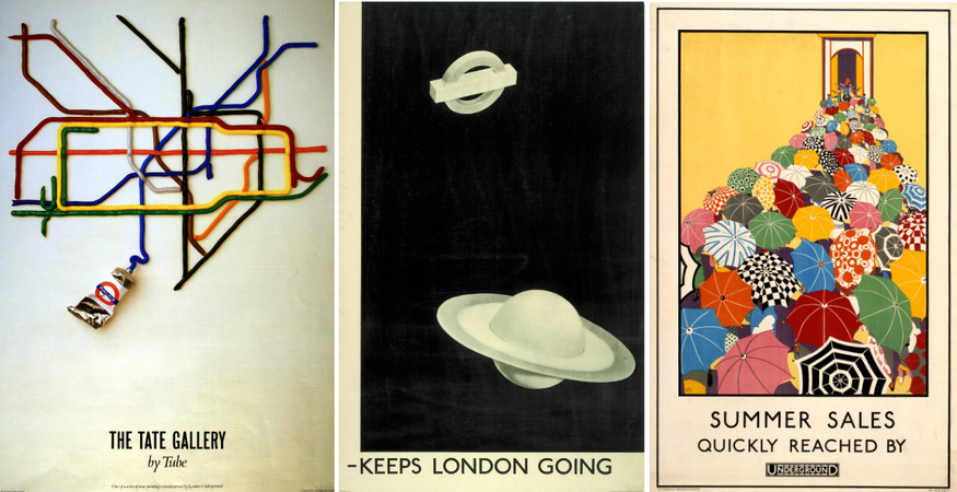 Posters: The museum holds an enormous range of transport posters - part of one of the most important collections of graphic art in the world, and dating back over a century. Over 5000 reprints can be ordered online. A selection are also available in-store, including these three design classics.