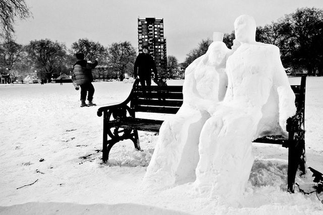 Photo of the Day: Snow Sculpture in London Fields