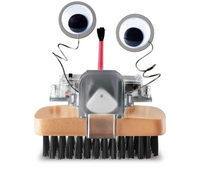 Who says cleaning can't be fun? This funky robot sweeper is the perfect solution to household dust. Have fun assembling the plastic body parts, give him a lick of paint and add the moving eyes - then put your feet up and watch him sweep the floor with robotic efficiency. Buy here.