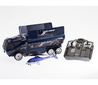 Awarded top remote controlled flying toy on The Gadget Show, Silverlit's fully functional Heli-Mission swat truck features twin LED headlights, four flashing blue hazard warning lights, dual siren sound effects, and remotely operated roof doors that open and close upon command! Buy here.