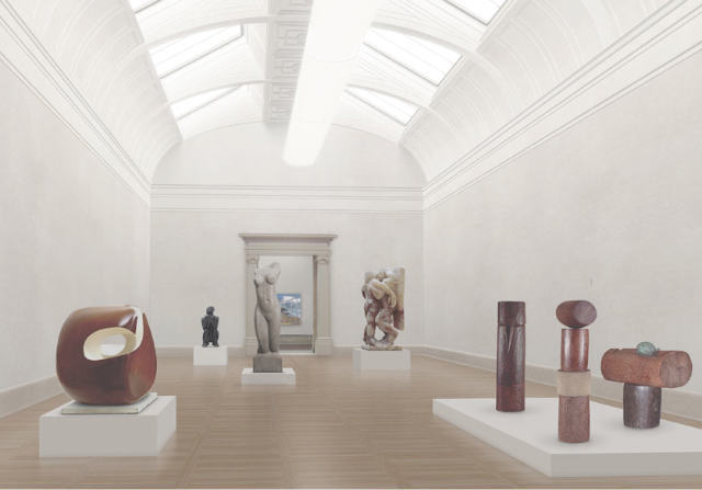 Artist's impression of a new gallery.