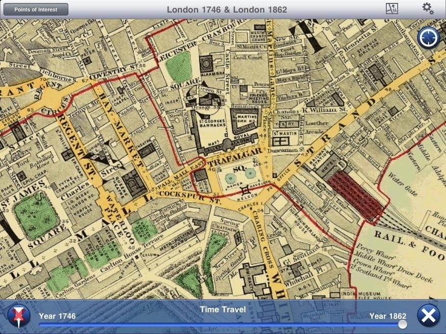 Trafalgar Square in 1862.