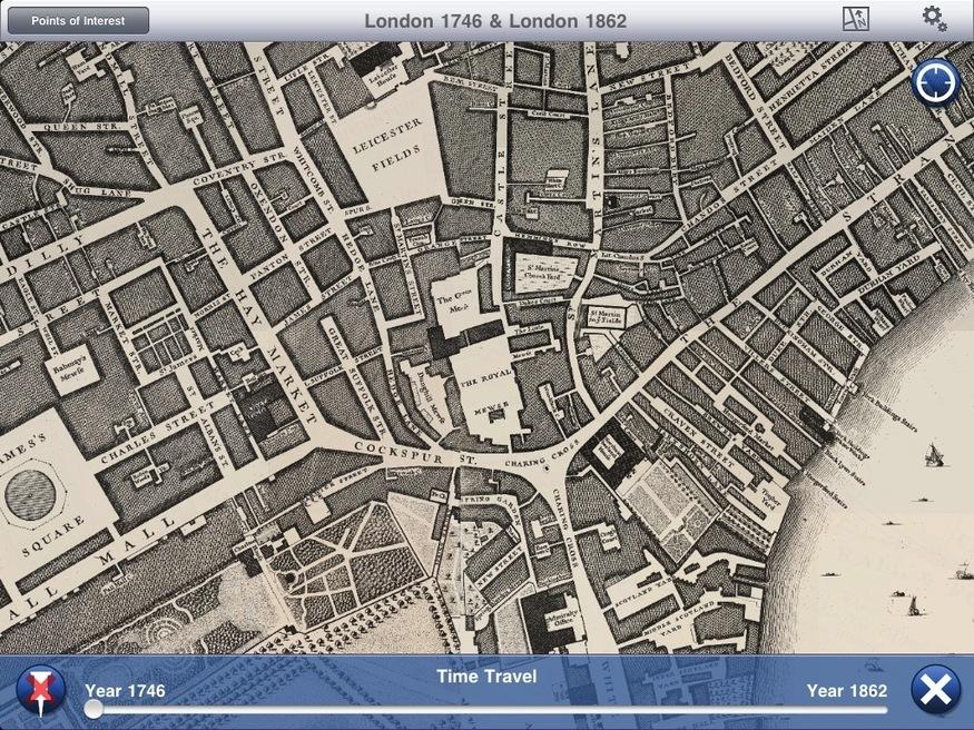 Trafalgar Square in 1746