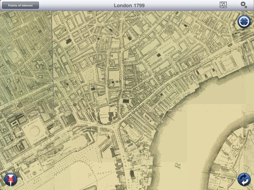 Trafalgar Square in 1799