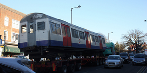 Metropolitan Line Train Taken Away For Scrapping