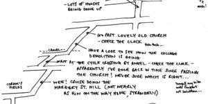 Hand-Drawn Maps Of London: A Cycling Diagonal