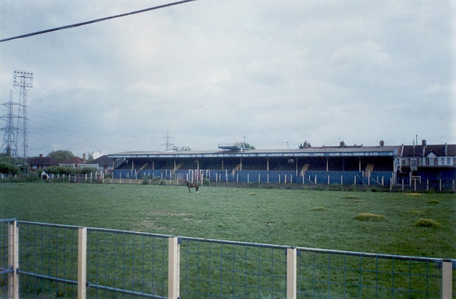 Wimbledon's Plough Lane, in June 2000. The ground has since been demolished. Photo / sarflondondunc.