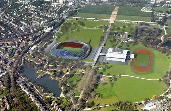 Crystal Palace FC's proposed stadium in Crystal Palace Park.