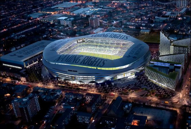Tottenham's proposal for a new stadium near White Hart Lane, made last year. See more images.