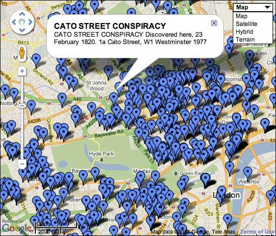 English Heritage London Blue Plaques Mapped