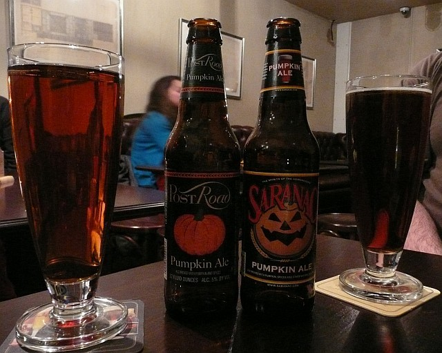 Pumpkin ales. Photo by Dave.