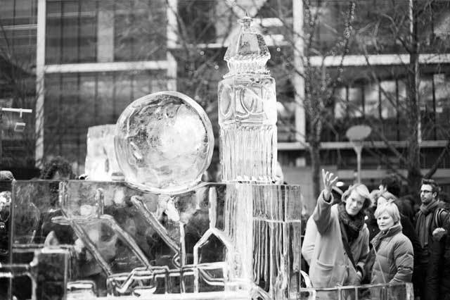 Canary Wharf Ice Sculpting Festival: In Pictures