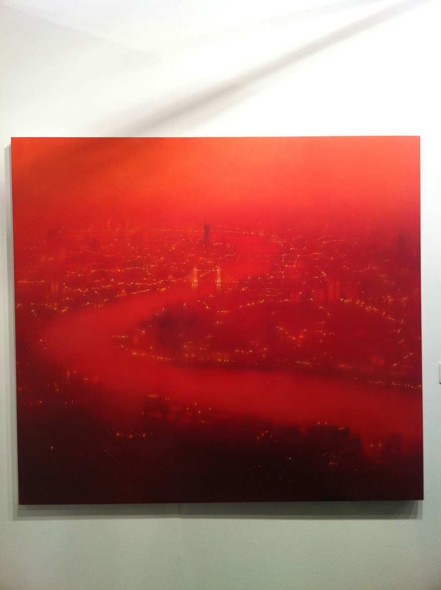 River Bend Red, Jenny Pockley - oil on gesso, 2009
