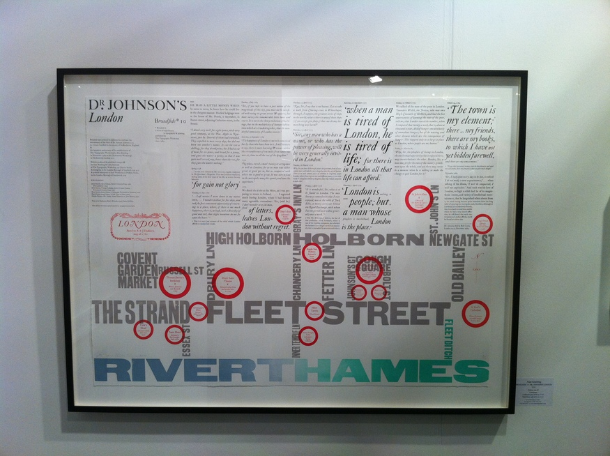 Broadside 10: Dr Johnson' London, Alan kitching - letterpress, 2010