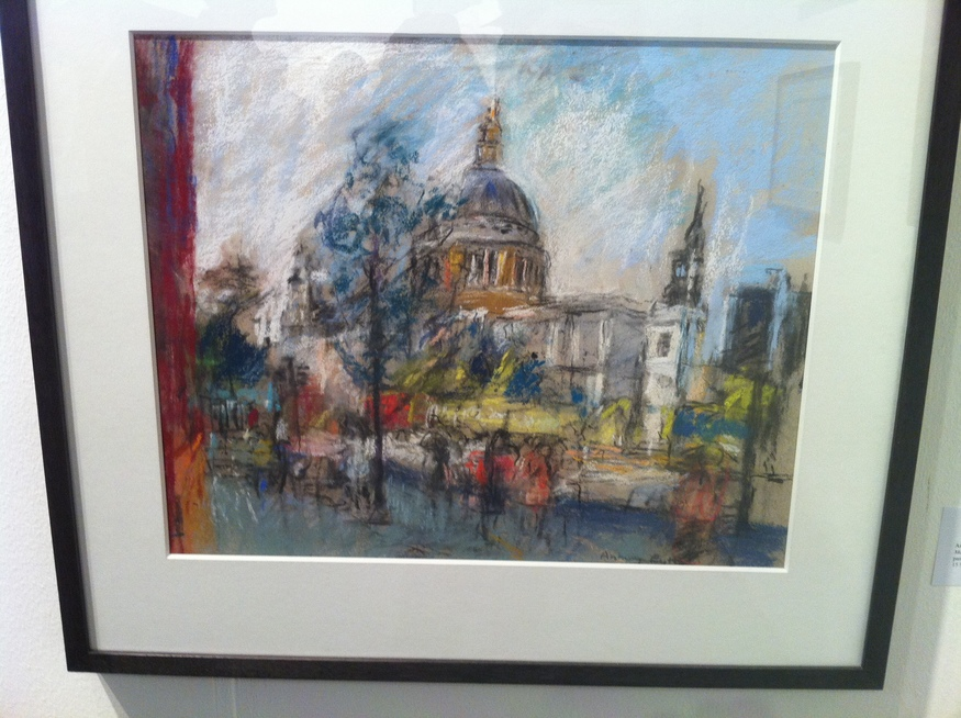 May, St Paul's from Bracken House, Anthony Eyton - pastel