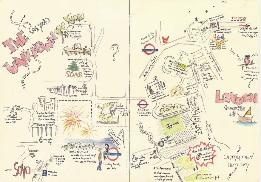 Hand-Drawn Maps Of London: Newcomer To Bloomsbury