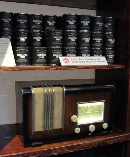 An old-style radio to listen to the Ministry's broadcasts on