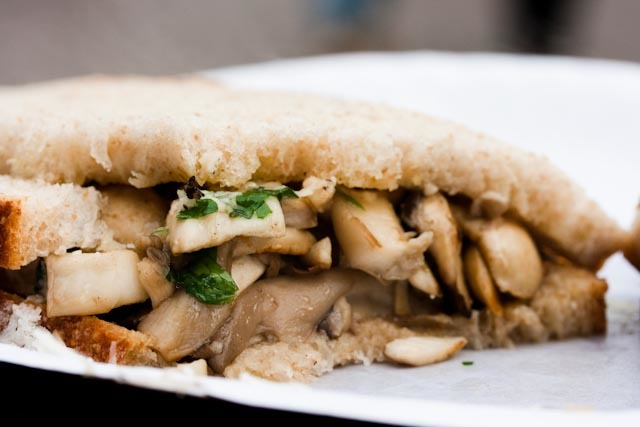 Sandwichist - Mushroom Sandwich From Sporeboys, Broadway Market