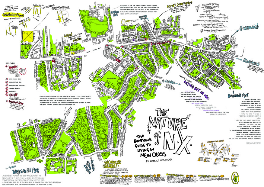 Hand-Drawn Maps Of London: The Fields Of New Cross