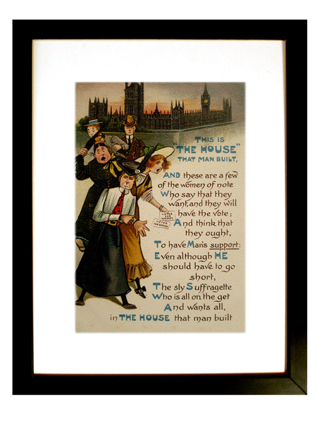 A suffragette postcard from 1909.