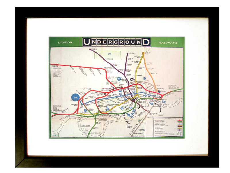 Vintage Tube map.