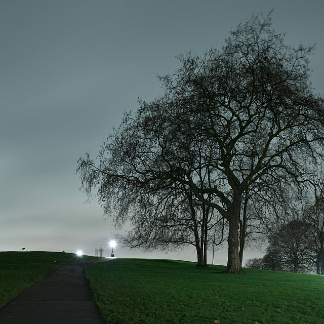 Ghostly figures on Primrose Hill, by andymatthewsphotography.com.
