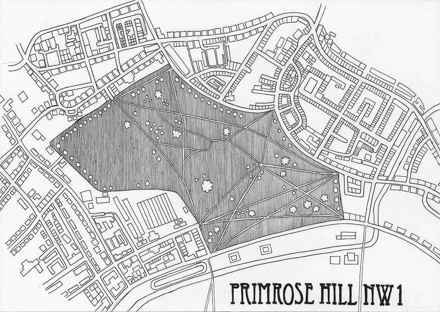Hand-Drawn Maps Of London: Primrose Hill