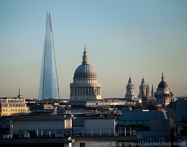The Shard and St Paul's Cathedral.