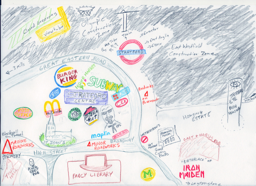 Hand-Drawn Maps Of London: Stratford
