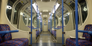Doors Open On Moving Tube Train