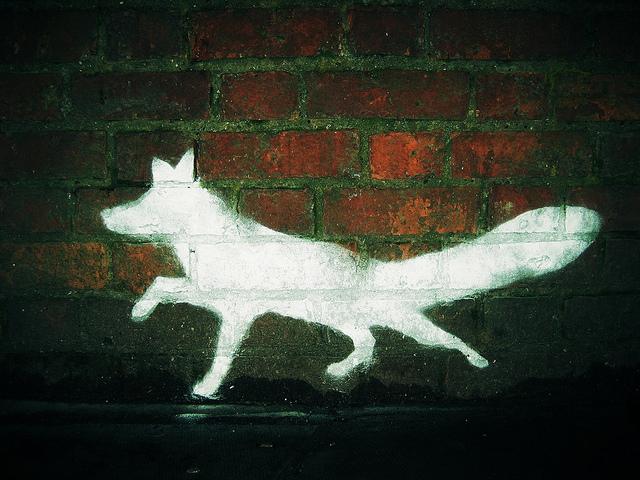 london street art guide  7  fox graffiti