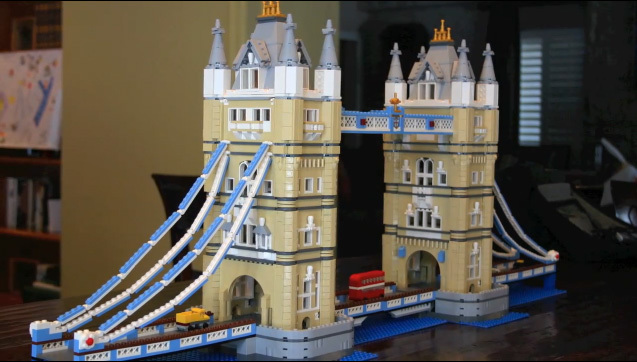 building tower bridge one lego brick at a time londonist. Black Bedroom Furniture Sets. Home Design Ideas