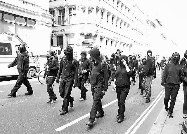 G20 protesters, City of London (1 April, 2009)