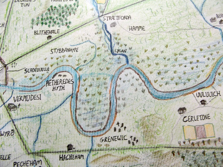 Hand-Drawn Maps: Anglo-Saxon London