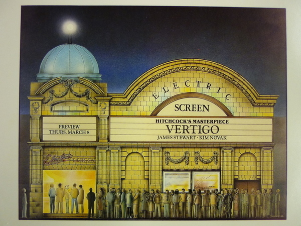 Invitation to reopening of the newly named 'Electric Screen' in 1984. After her successful venture in the Screen on the Green in Islington, Romaine Hart hoped to save the Electric. Image Kensington & Chelsea Libraries.