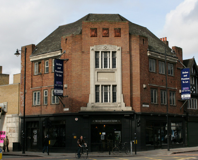 Shoreditch railway station, which closed in 1940; it is now home to a bar called The Old Shoreditch Station.
