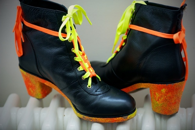 Flip Flop boots customised by Cooperative Designs.