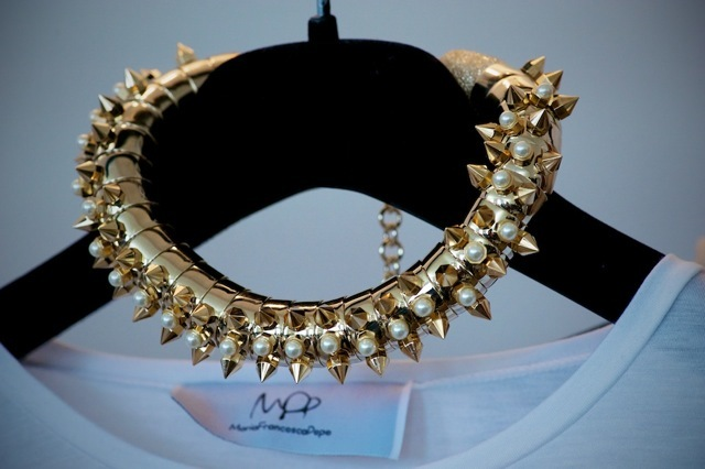 An incredible choker from a collection by Maria Francesca Pepe Ltd.