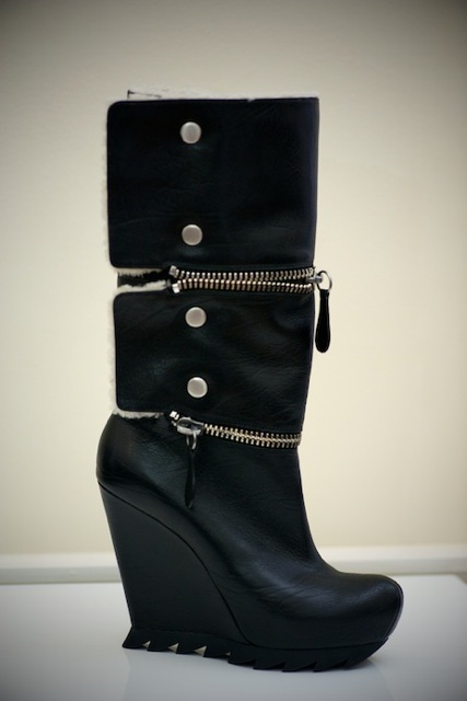 Zipped and studded boots from Camilla Skovgaard.
