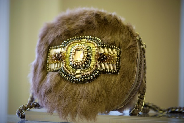 Fur and intricate beaded bag from a fantastic collection by Buba.