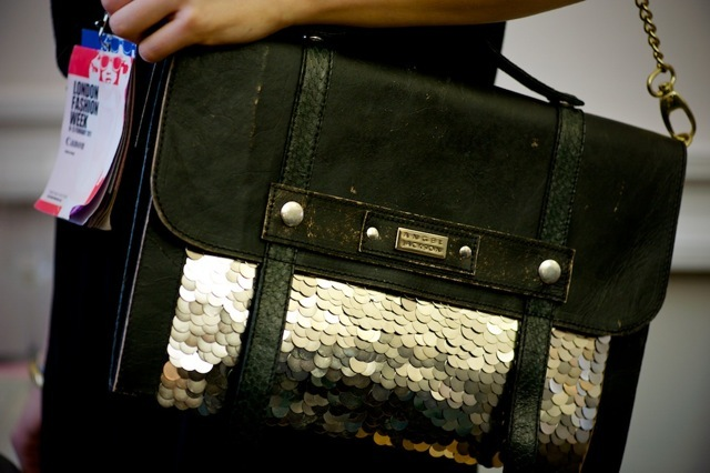 A glamorous take on the satchel by Angel Jackson.