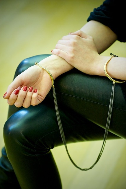 Possibly the sexiest items of jewellery at the show - the cuffs from Agent Provocateur.  But when would you wear one?