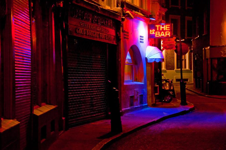 Pink bar, by Dave Gorman.