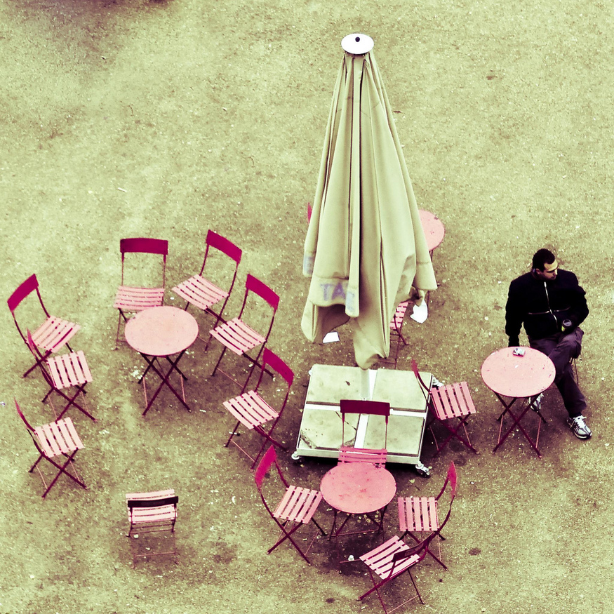 Pink cafe, by photocillin.