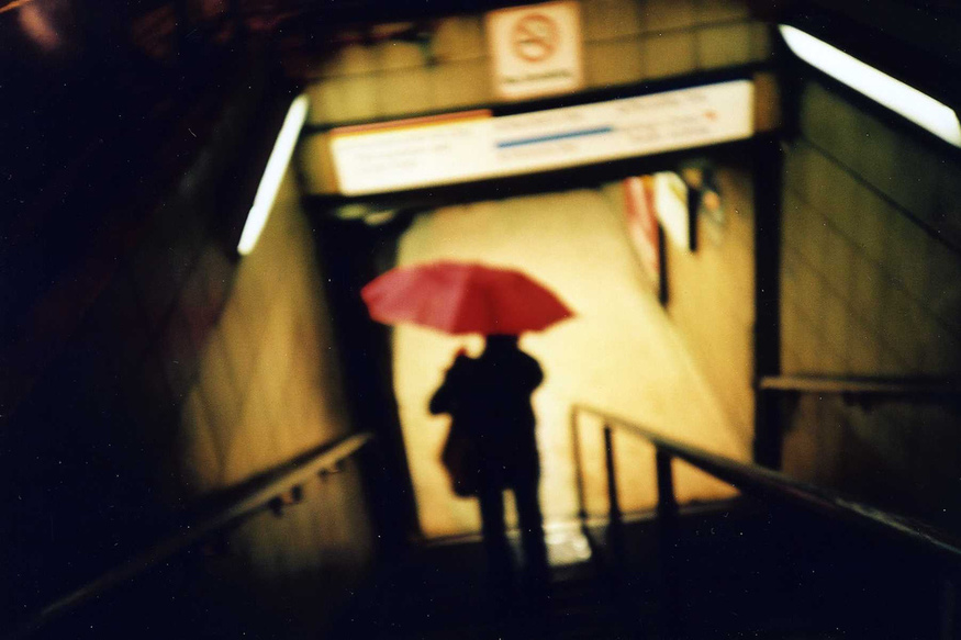 Pink brolly, by Limna.