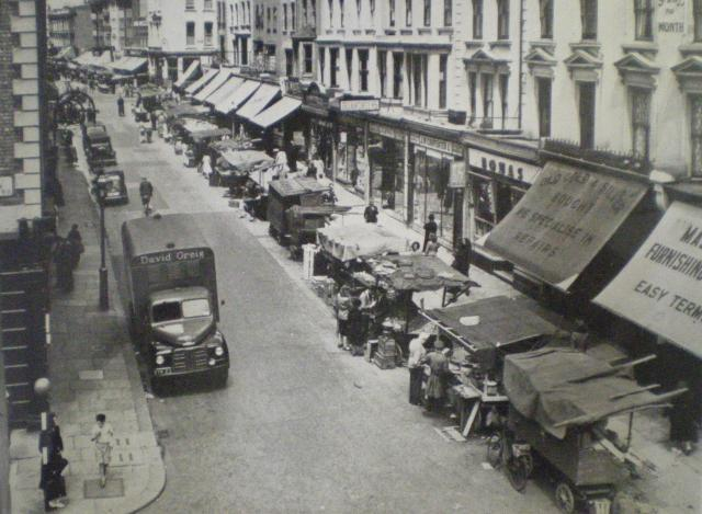 Portobello market, early 1900s. Image from Soho House photo gallery.